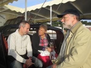 Frank Ahlrichs, Bettina Frenzel und Walter Schmidt auf der abendlichen Dampferfahrt